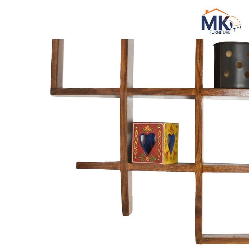 Solid Sheesham Wood  Boxes Wall Shelves