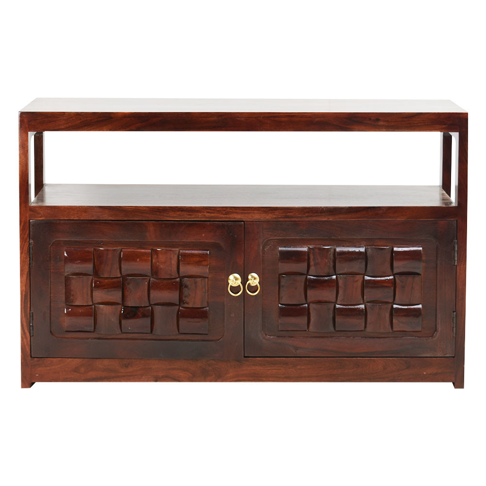 Solid Wood Classical Sideboard Cabinet In Teak