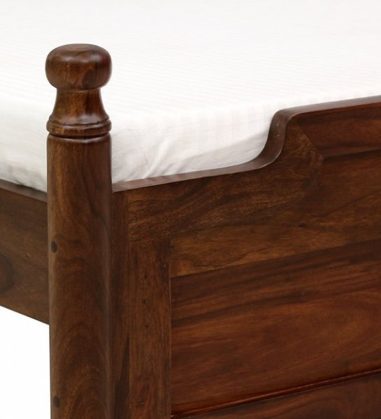Upholstered Bed Solid Wooden Queen Size Bed