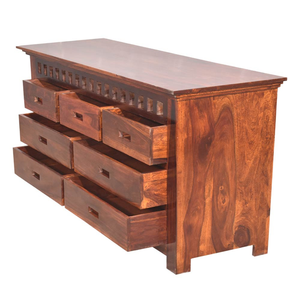 Solid Wood Sheesham Adolph Chest of Drawer