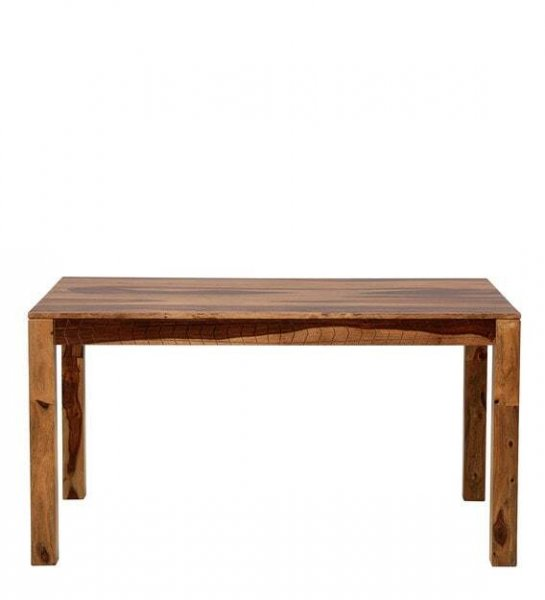 Novel  Solid Wood 6 Seater Dining Set With Bench In  Teak Finish