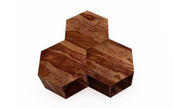 wooden  Centre Table - Set Of 3