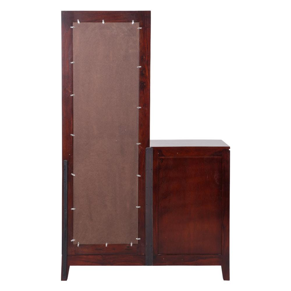 Solidwood 4 Drawer Dressing  Table With Mirror walnut