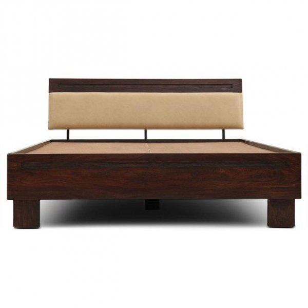 Upholstered Queen sized bed Without Storage