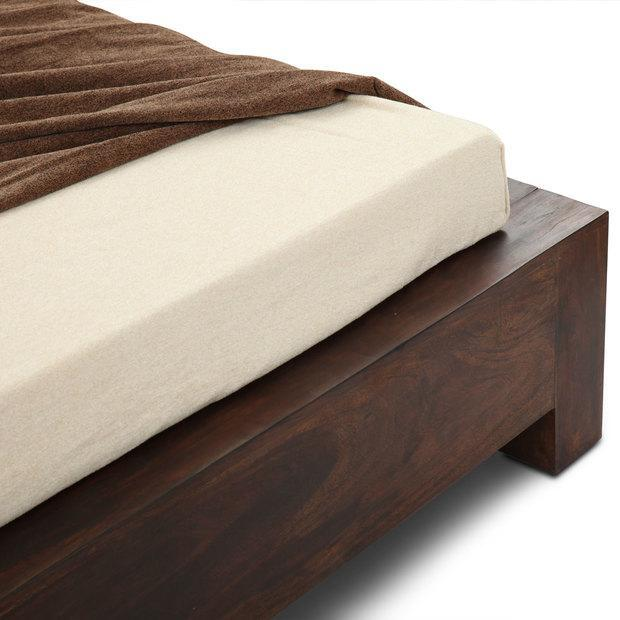 Wooden Bed With Upholstered Without Storage