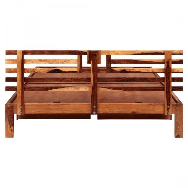 Solidwood Queen Bed Side Drawer Storage - Honey