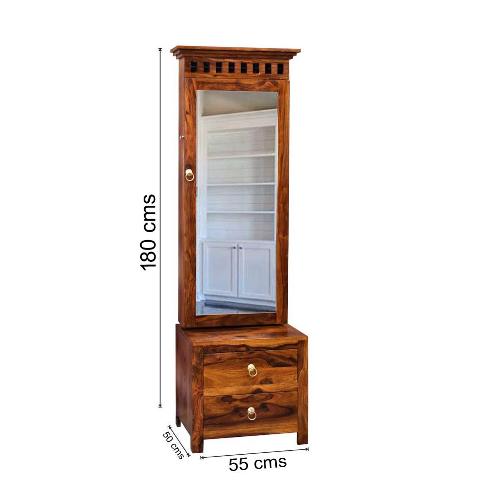 Solid Sheesham  Wood Kuber Dressing table With Mirror