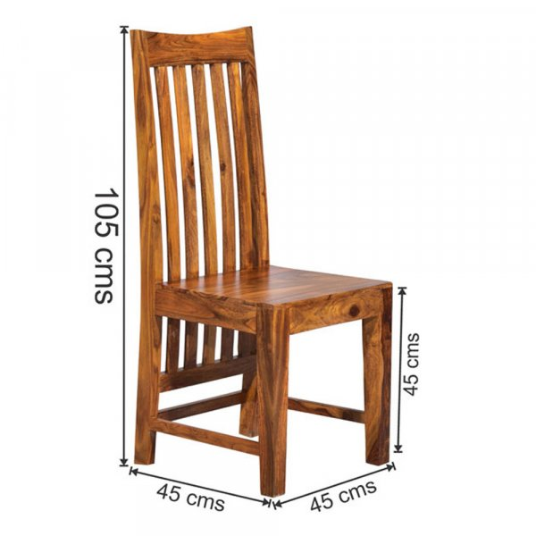 Comfortable Solid Sheesham Wood Dining Chair