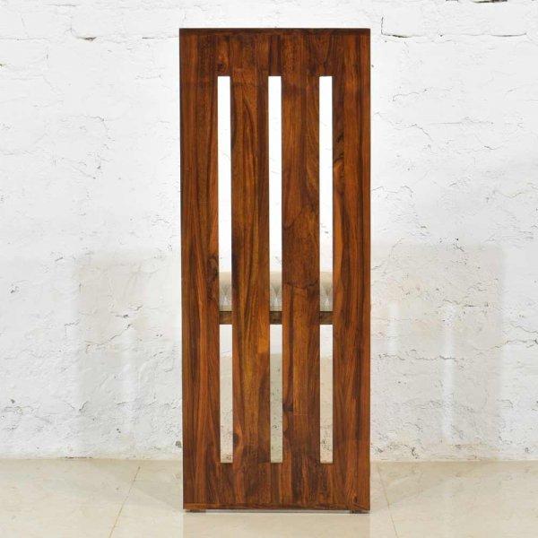 Solid Sheesham Wood Chair With Cushion