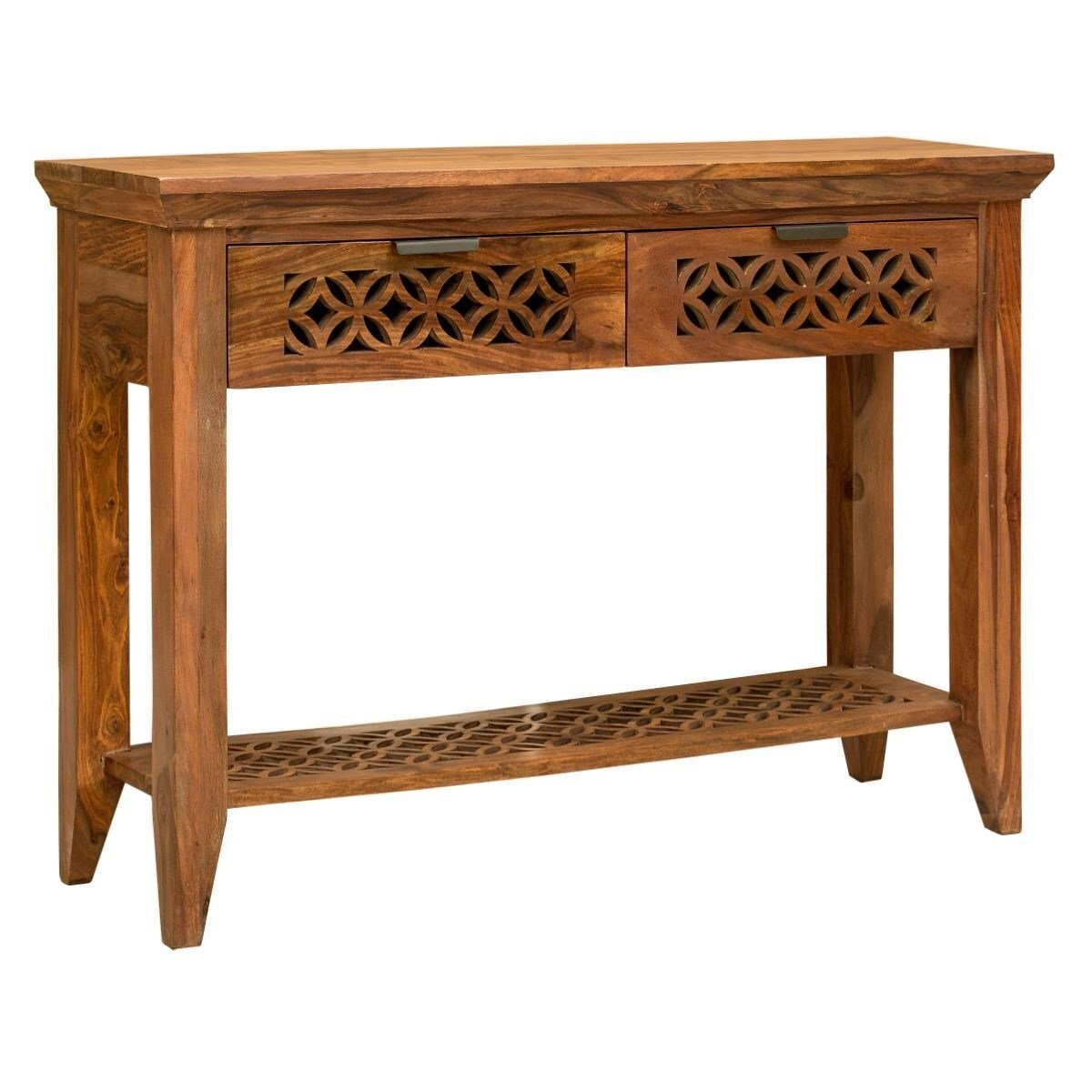 Wooden Console Table With Jaal Work