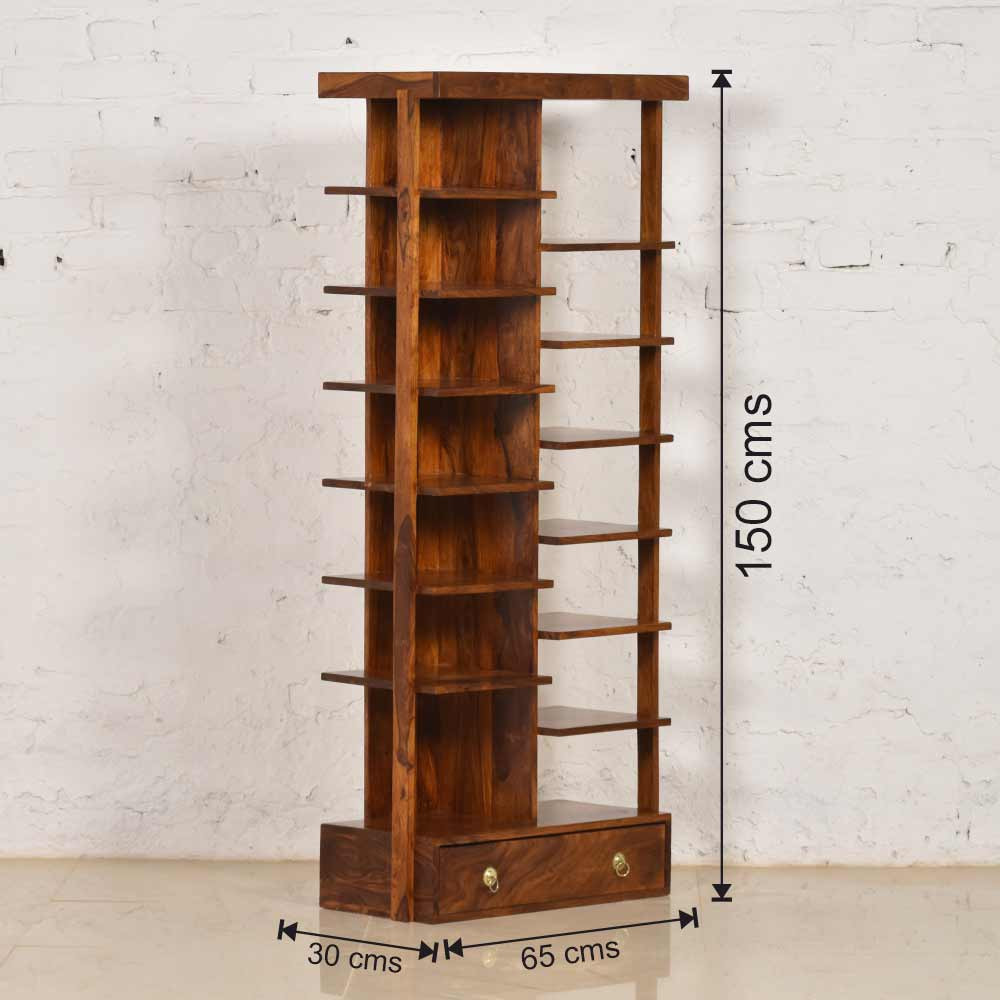 Valley Book Shelf  Solid Wood Sheesham