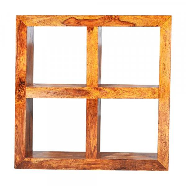 Solid Sheesham Wood Square Bookshelf
