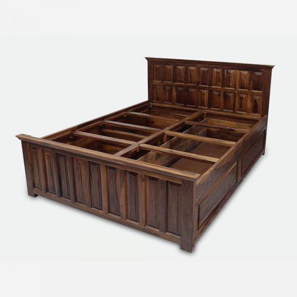 Wooden Queen Size Bed With Storage
