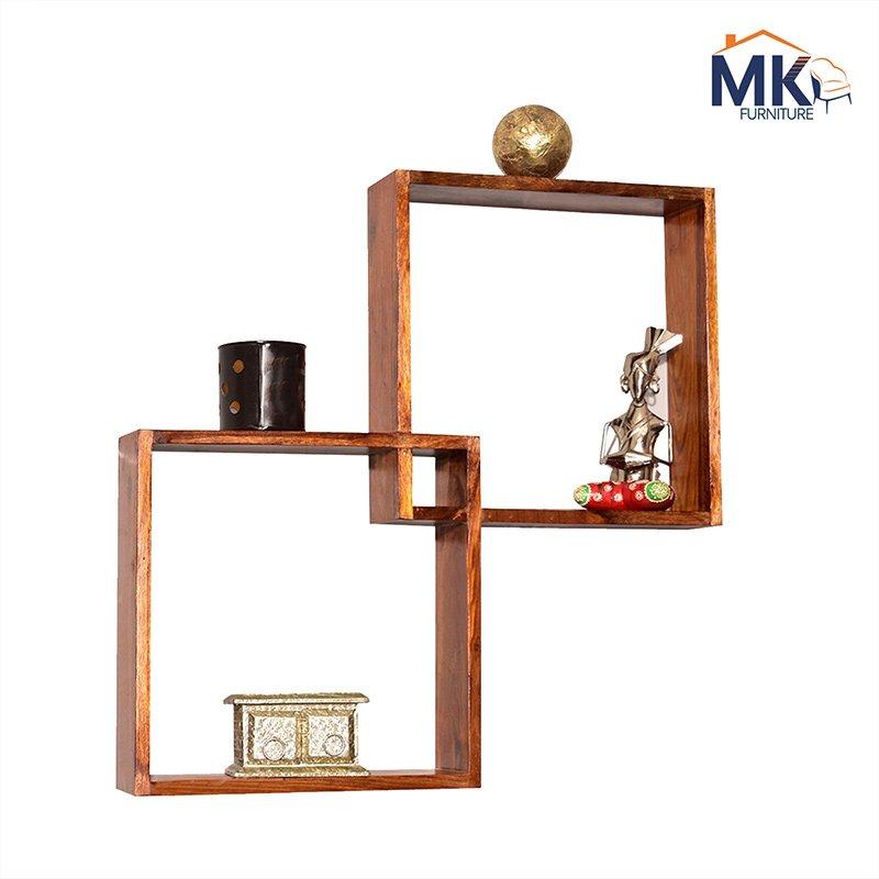 Wooden Square  Modular  Wall Shelf