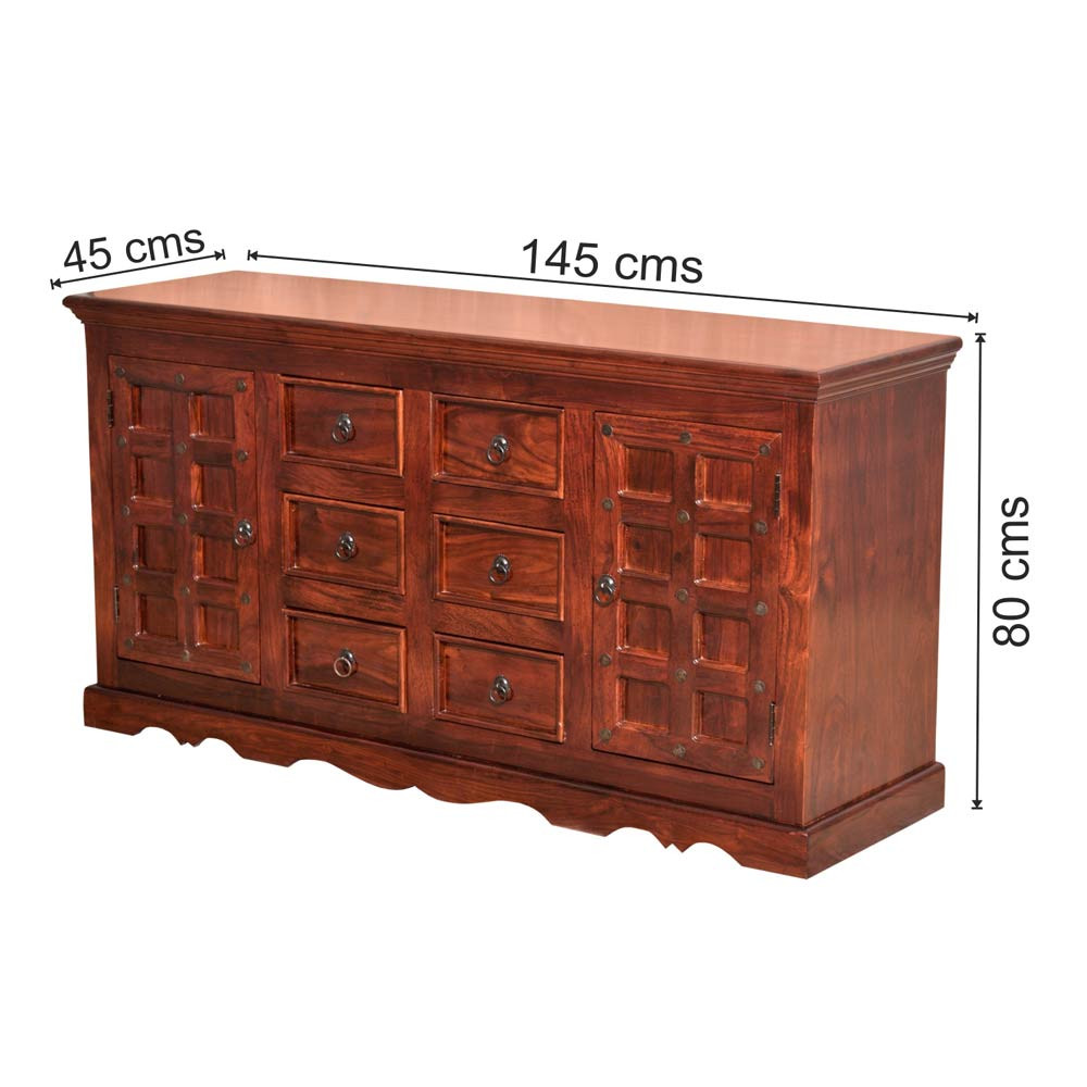 Solid wooden Brass Sideboard In Teak