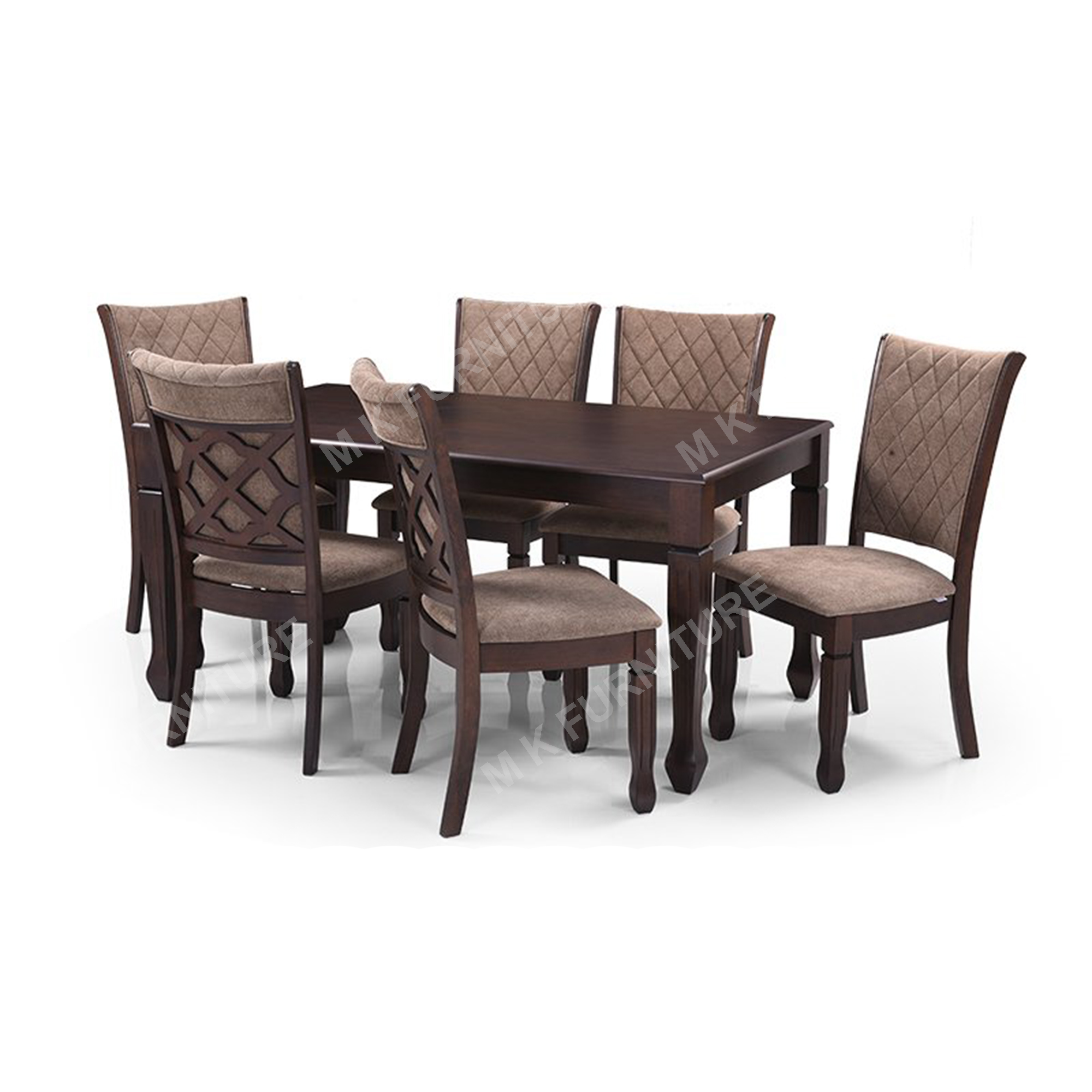 six seater solid wooden dining table