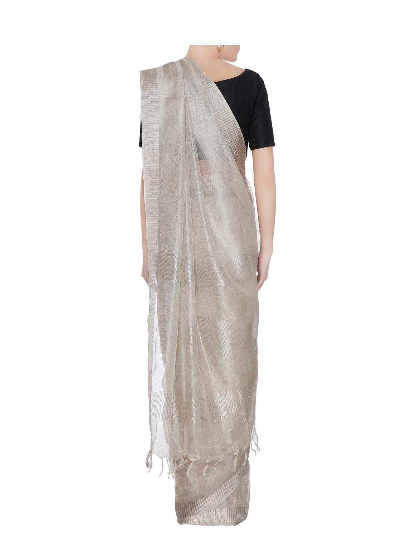 Silver Tussar Silk Heritage Line Saree