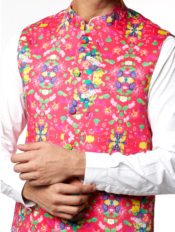 Phool Printed Waistcoat