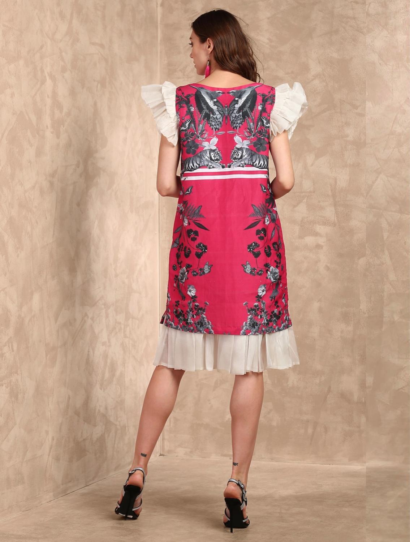 Shinsha Organza Ruffle Dress