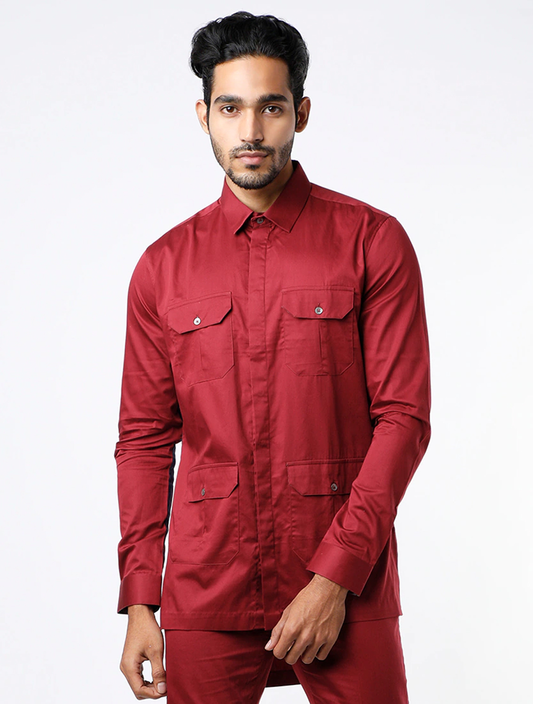 Safary Maroon Shirt