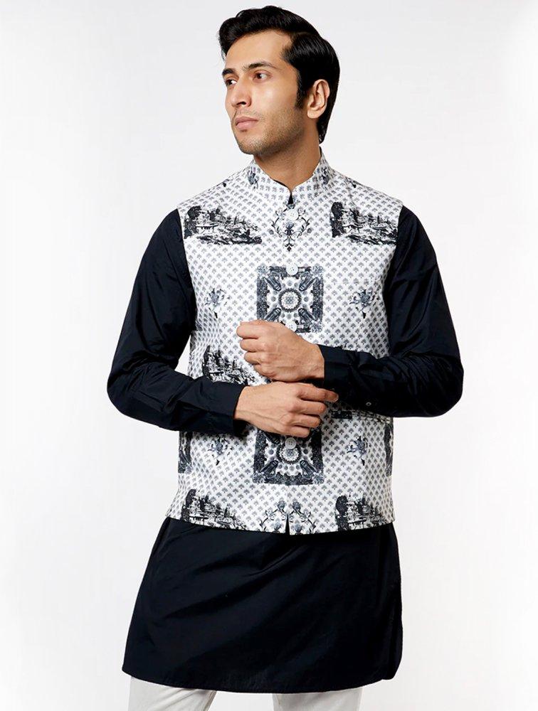 Benares Printed Waistcoat