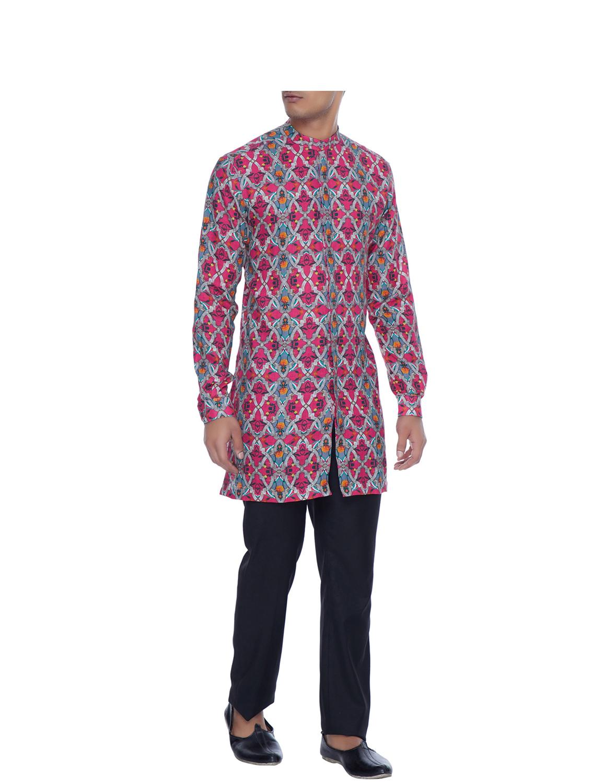 Rudraksh Linen Kurta Style Shirt