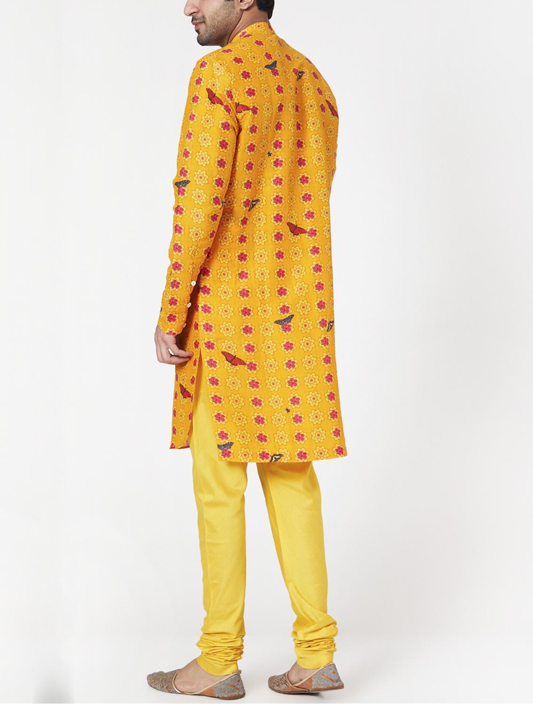 Suryaksh Silk Linen Kurta Pyjama Set