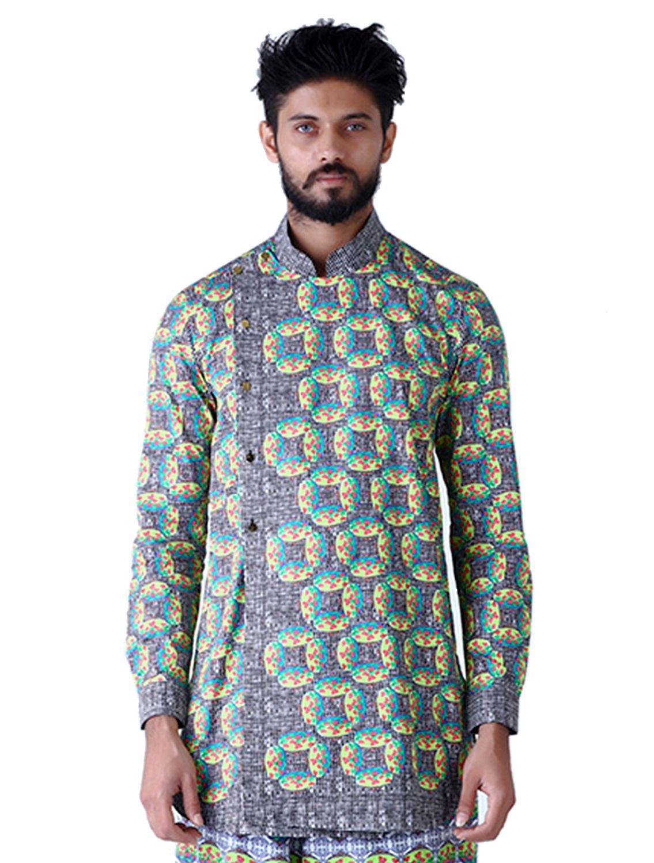 Kronos Printed Angarkha Shirt