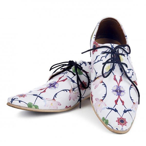Komol Lotus Handmade Printed Shoes