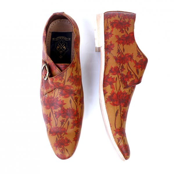 Sikri Handcrafted Monk Strap Leather Shoes