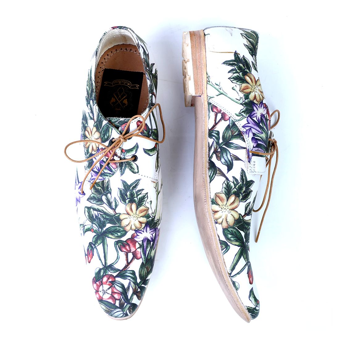 Bodh Handmade Leather Printed Shoes