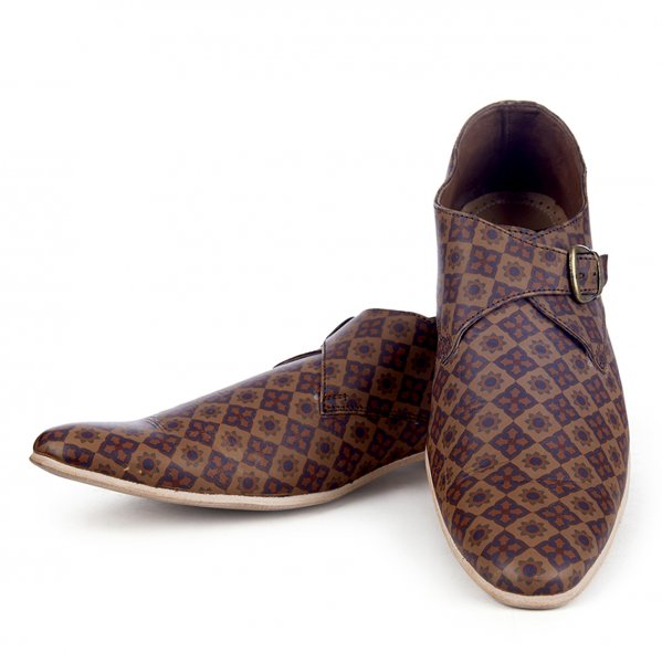 Taj Handcrafted Leather Printed Shoes
