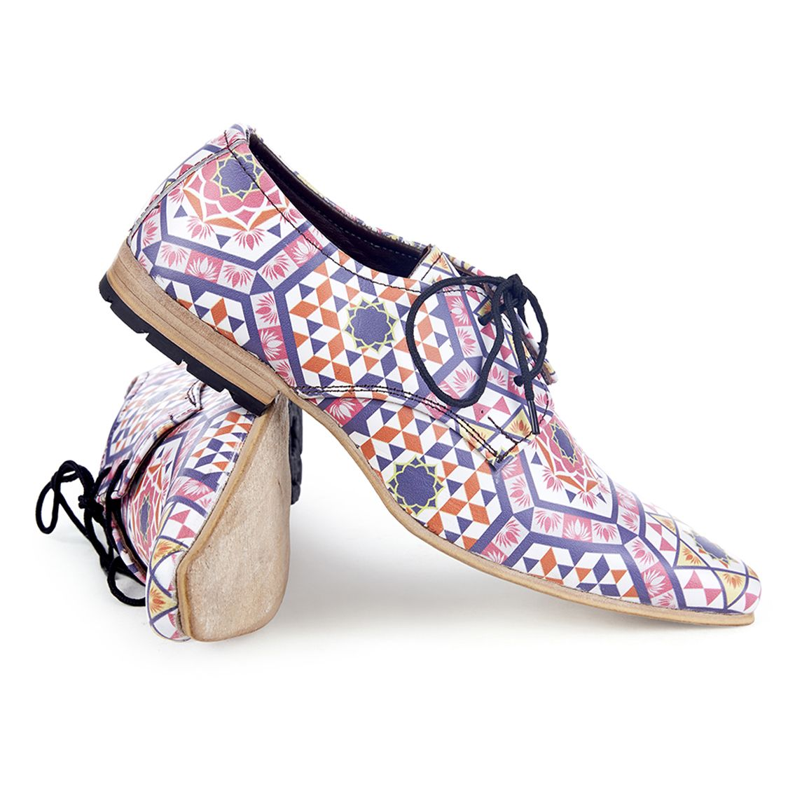 Kanwal Lotus Handmade Printed Shoes