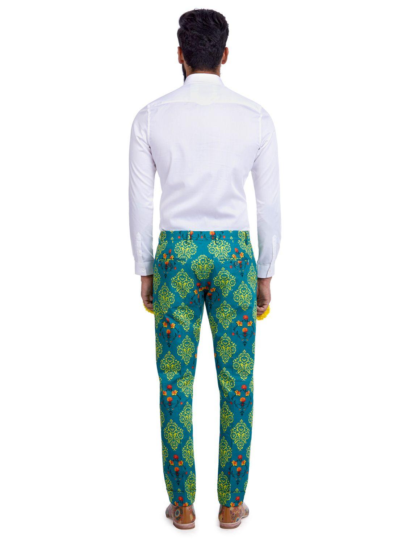 Vayu Green Printed Trousers