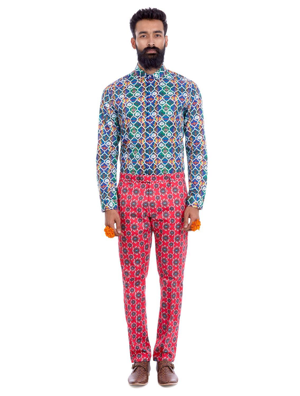 Geom Kamal Printed Trousers