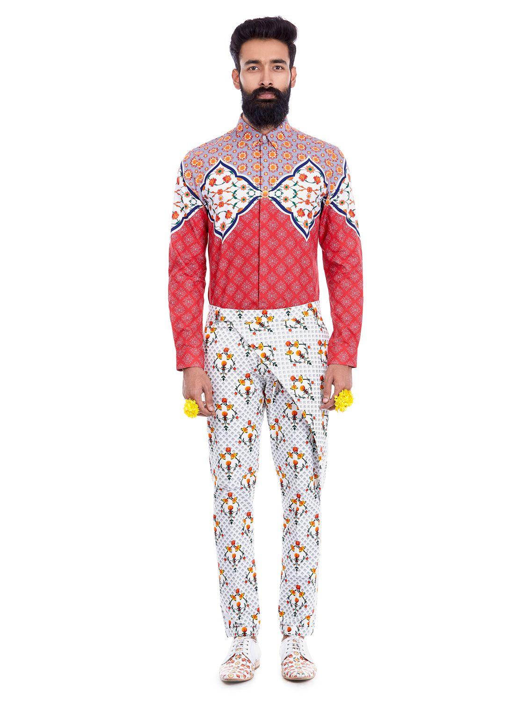Pandit Printed Wrap Trousers