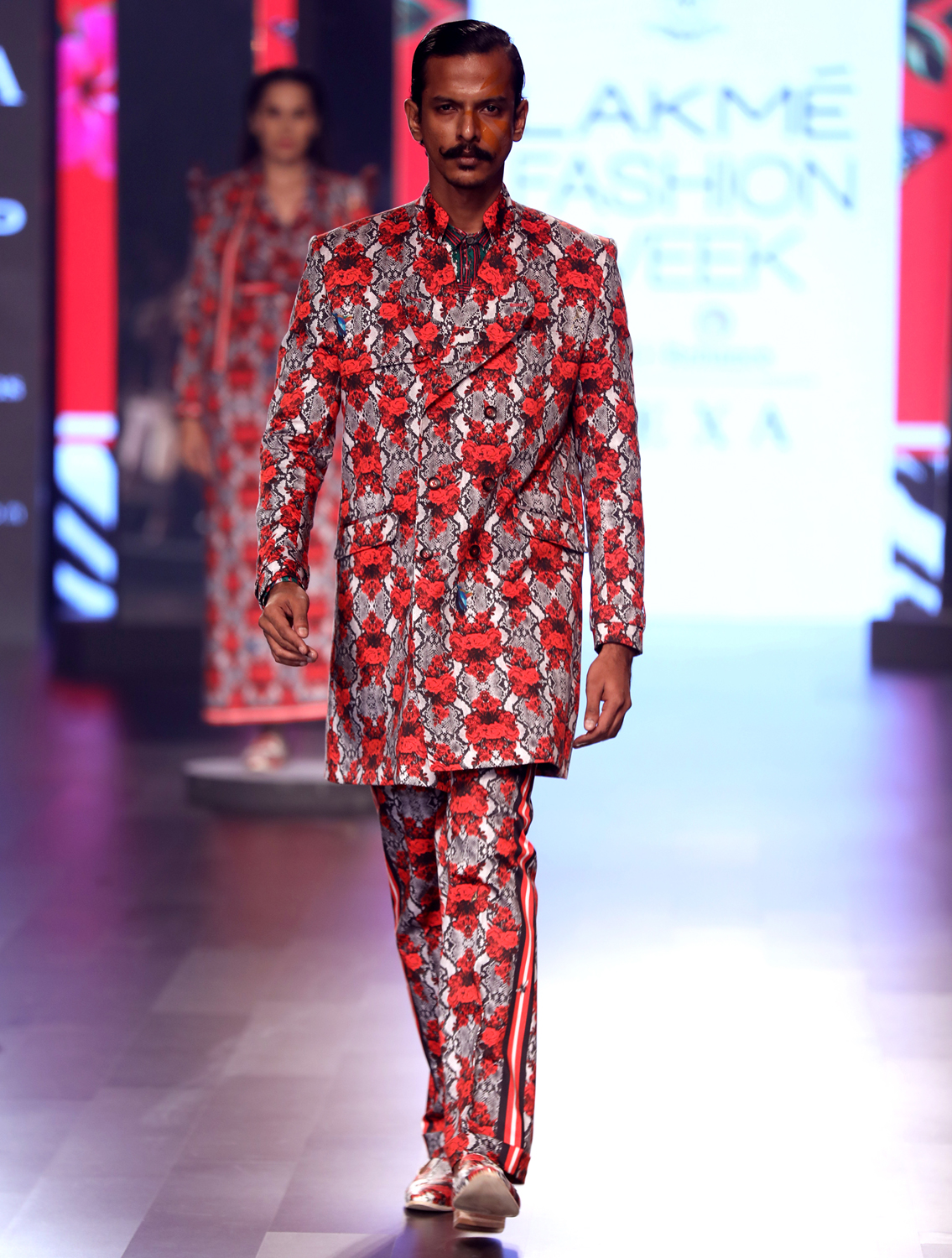 Forest Printed Trenchcoat