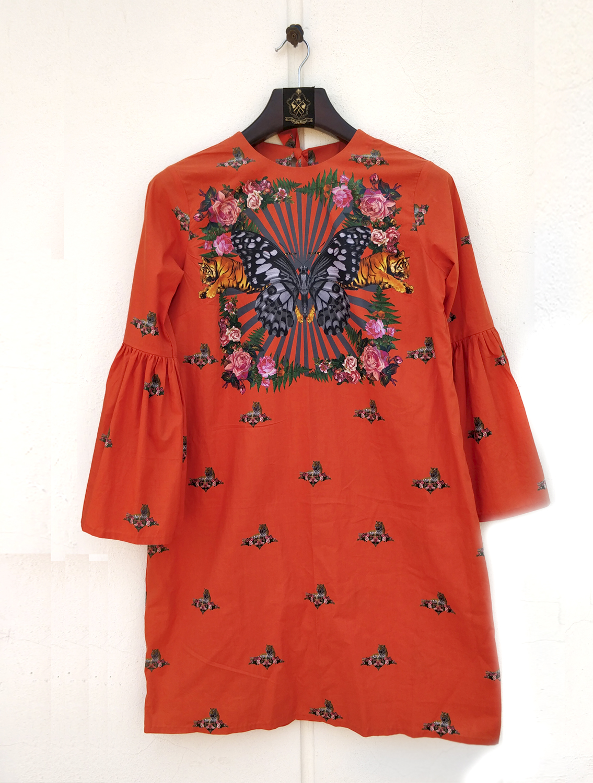 Rouge Butterfly Dress