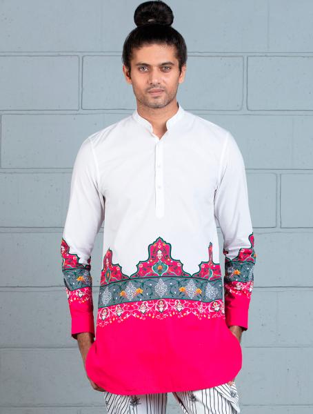 Mahal Shirt with Central Maharajah print