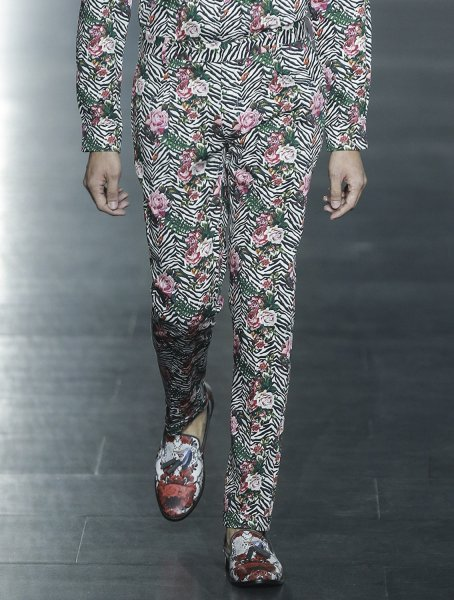 Black Panther Floral Printed Trousers