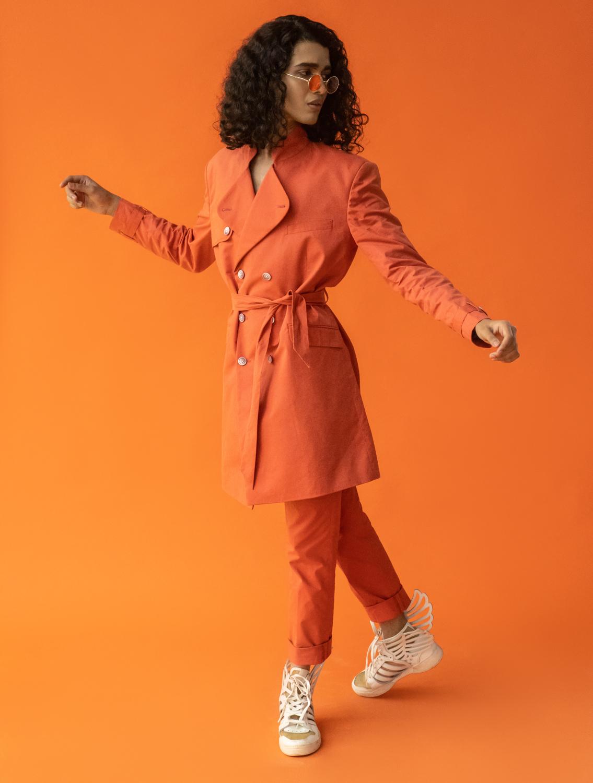 Paradise Orange Trenchcoat