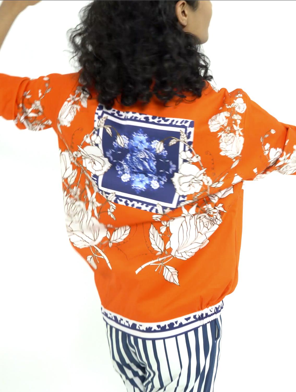 Diso Orange Bomber Jacket