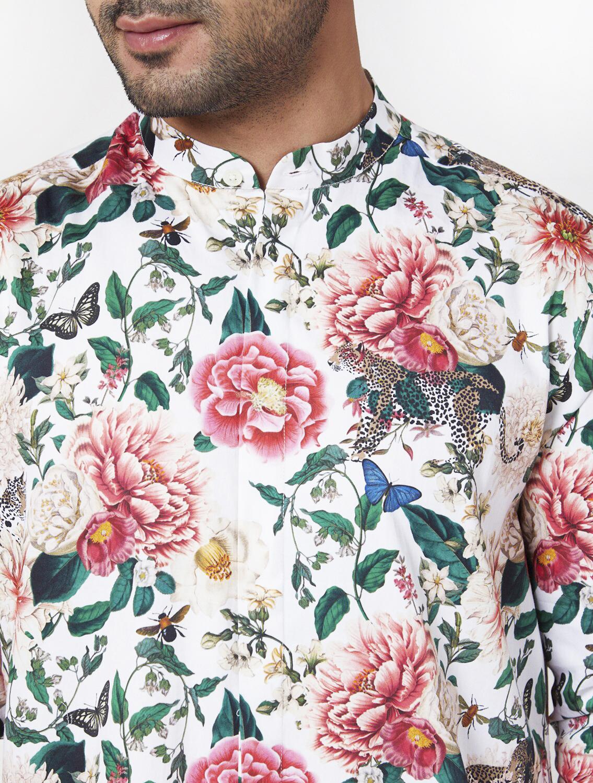 Gardenia Long Cotton Kurta Pyjama Set