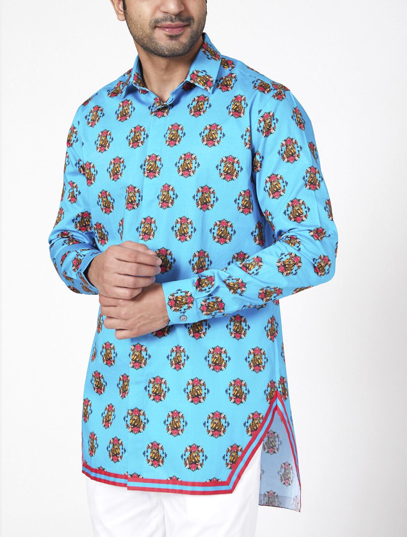 Turqleo Hem Striper Style Shirt