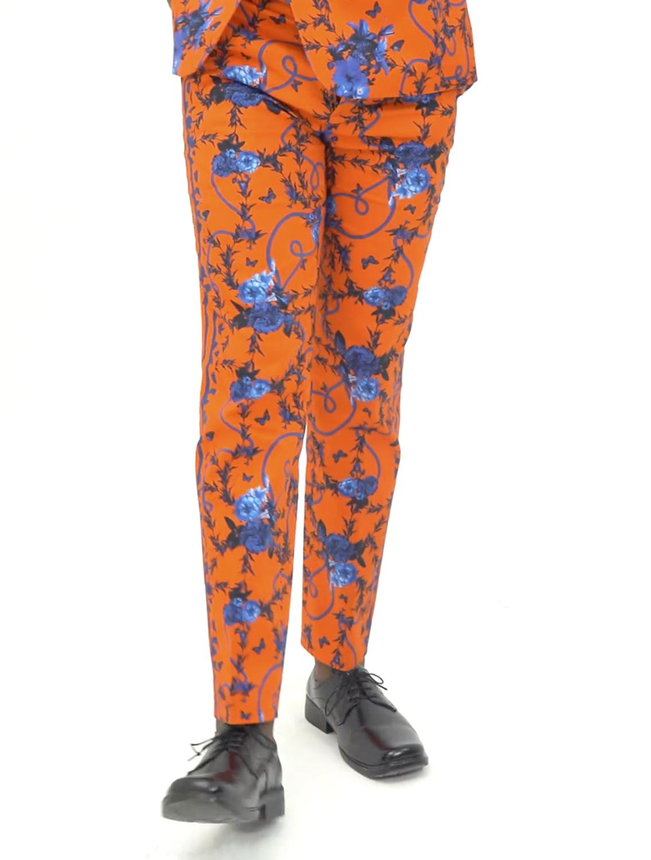 Jahan Printed Pants with Side Striper