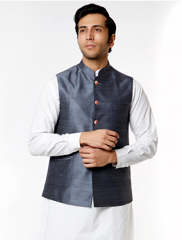 Grey Silk Waistcoat