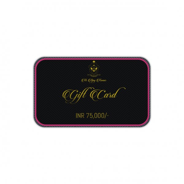 INR 75000 GIFT CARD