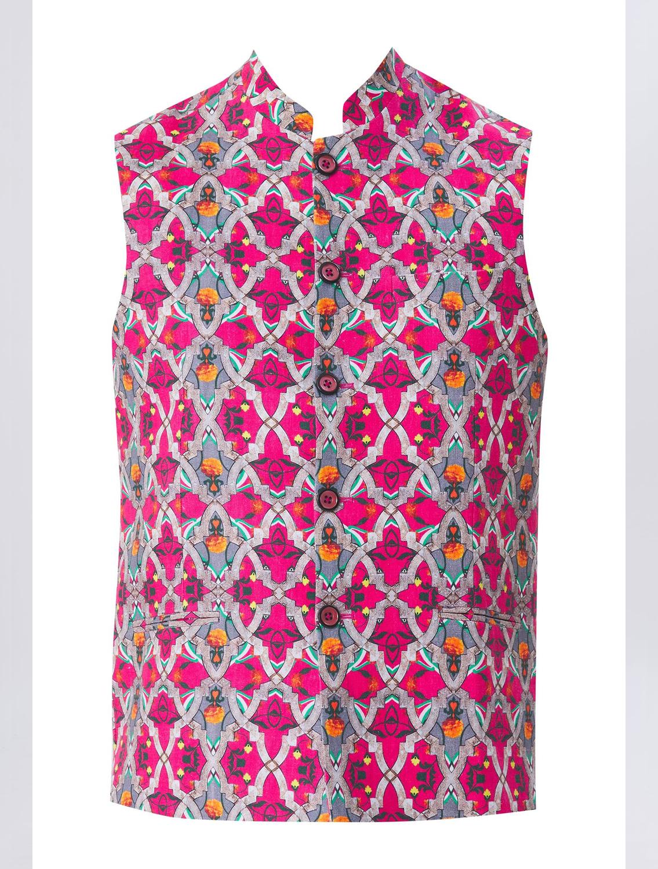 RudraJali Linen Waistcoat