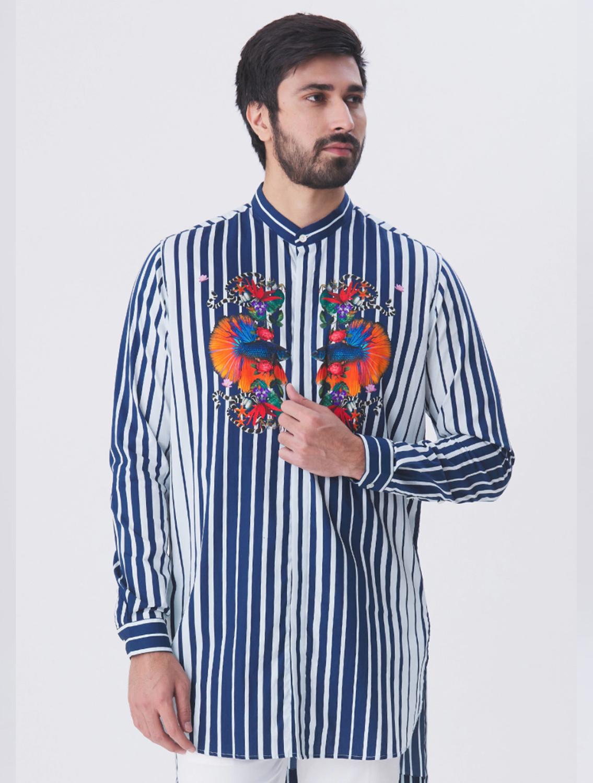 Bay Striper Long Printed Shirt
