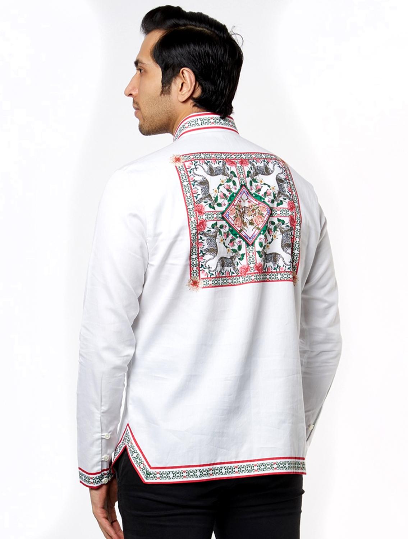 White Leo Hem Striper Shirt